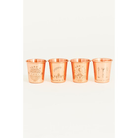 United By Blue In The Dark Shot Glass Set 4-Pieces Copper